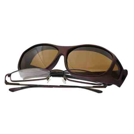 burgundy on burgundy cocoons fitover sunglasses