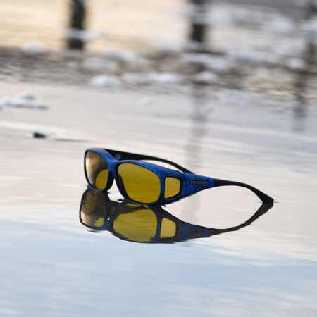 Ink Cocoons fitover sunglasses with yellow lenses