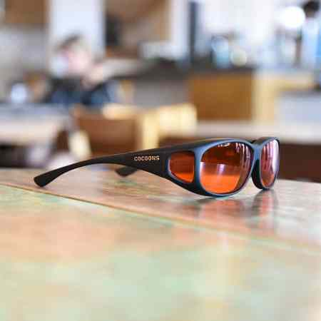 MS fitover sunglasses with orange lenses