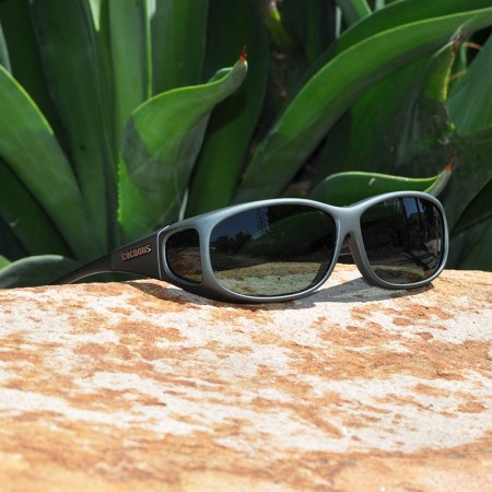 Ivy Cocoons fitover sunglasses with gray lenses