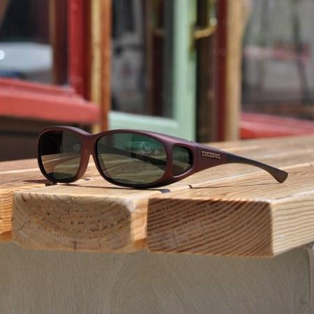 Burgundy Mini Slim fitover sunglasses with gray lenses