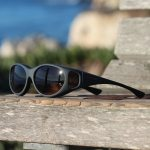 Small fitover sunglasses in a slate finish