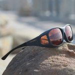 Slate fitover sunglasses with copper lenses