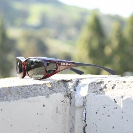 Mini Slim Cocoons fitover sunglasses in Black Cherry