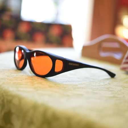 Blue light blocking fitover sunglasses