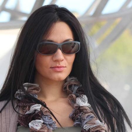 Tara wearing slate cocoons fitover sunglasses