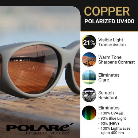 Contrast Enhancing Polarized Copper Lens