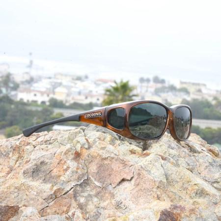 Cocoons Fitover sunglasses in Chocolate - Mini Slim