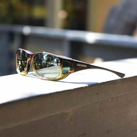 caramel Cocoons fitover sunglasses