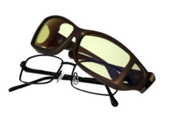 Cocoons Wide Line fitovers have a low profile, wide frame designed to fit over popular wide rectangle eyewear frames and feature an HEV blue light filter system