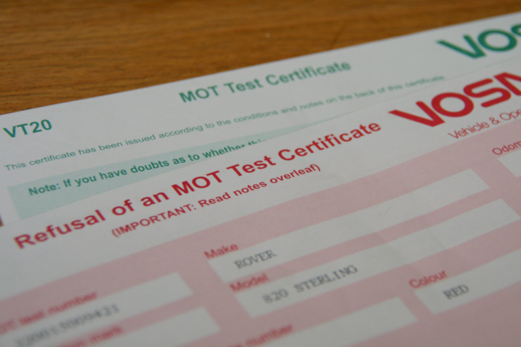 The most common MOT failures