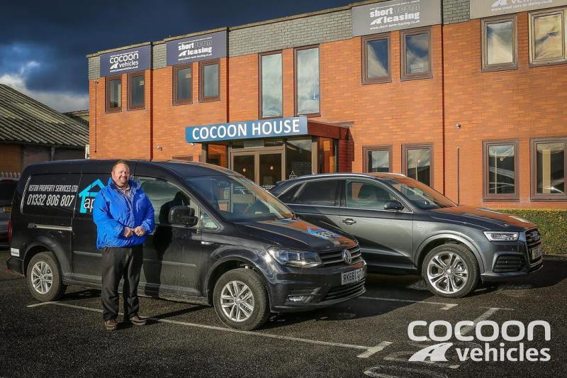"""Big thank you to Mark Mannion of Aston Property Services of Derby who has taken a VW Caddy and an Audi Q3 on a Short Term Lease! Short and Long Term Car Leasing : 0330 330 9425 : or GOOGLE """"Cocoon Vehicles"""""""