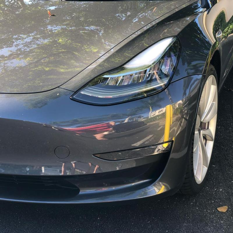 Very impressed by the @teslamotors Model 3! What a fantastic electric car!