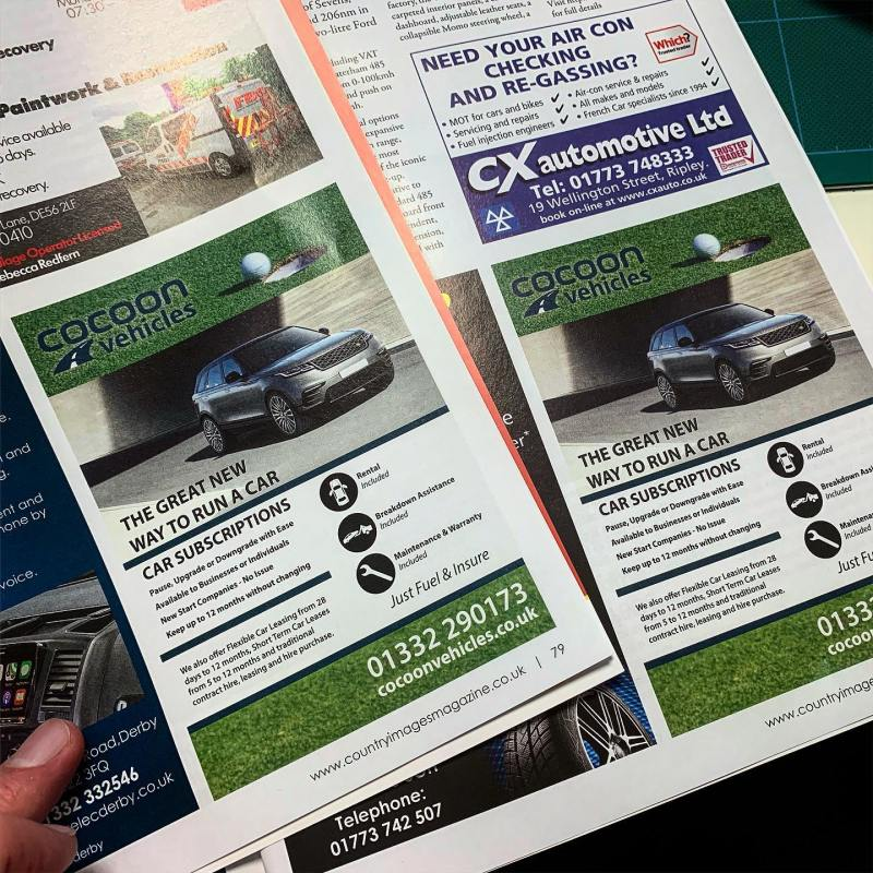 Great to see our latest adverts in @countryimagesmagazine North and Derby Edition!