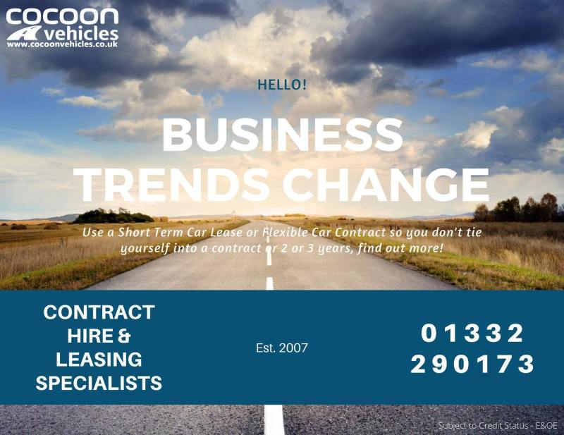 Business Trends Change! So go with a short term or flexible car lease that works around you and your business!