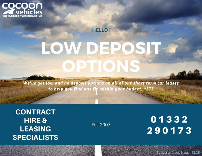 We've listened to customer feedback and now offer a range of profiles on our 6-12 month fixed short term car leases.  So whether you want to put a low deposit down and keep the monthly rentals the same or maybe you want to put more down to bring your rentals within budget.  Either way our options can help you and/or your business without paying anymore money out.  Find out more online or call 01332 290173