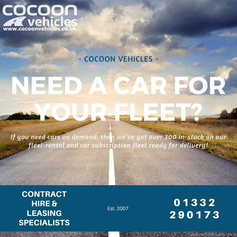 If you need cars on demand to expand your fleet quickly, then we've got over 300 vehicles available on our Flexi-rental and Car Subscription Fleet.  Next working day delivery when a credit line is in place, subject to availability and vehicle.