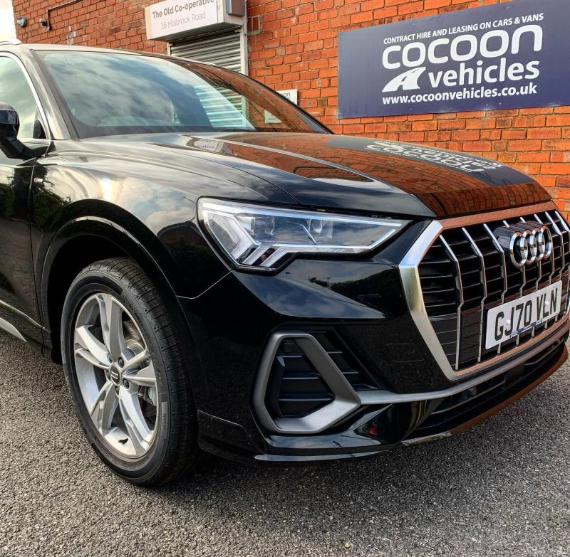 Audi Q3 TFSI S Line Auto delivered to an existing customer who has just left us a 5-star Google Review!  Thank you did your continued business!