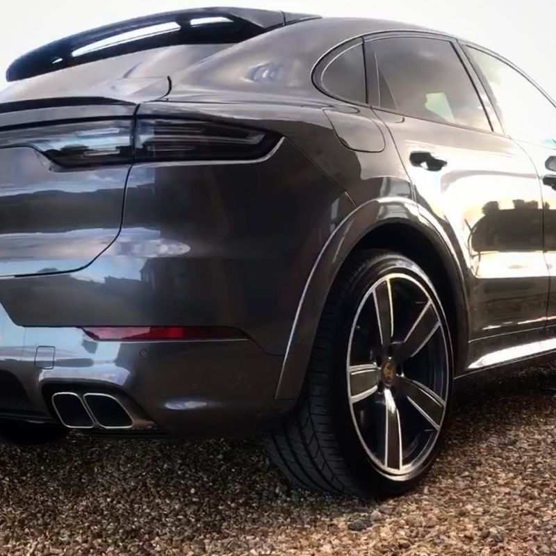 Porsche Cayenne Coupe delivered a week or two ago to an existing customer.  List price in excess of a cool £100k!