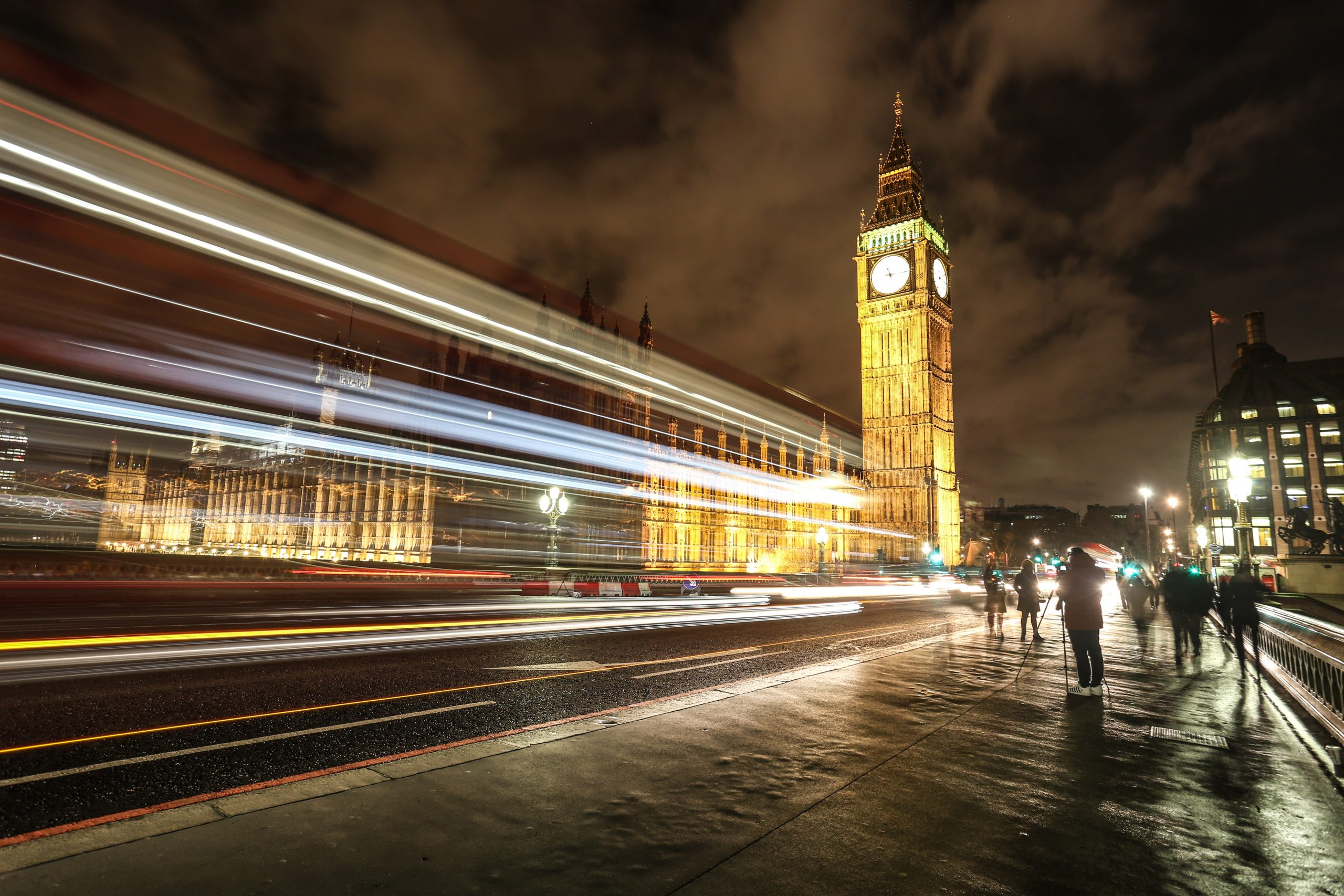 Light Trails on Westminster Bridge