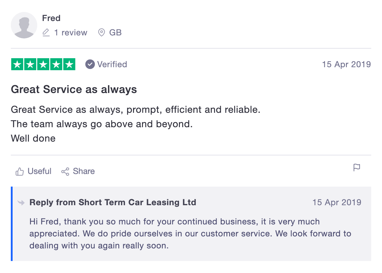 Fred Rugeley Trustpilot Review