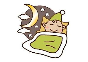 睡眠する男性