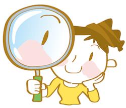 情報を選ぶ虫眼鏡