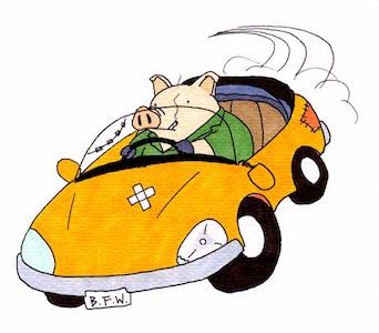 豚が乗るポンコツ車