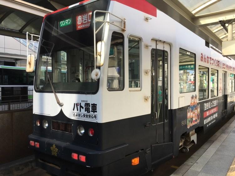 豊橋の路面電車の写真