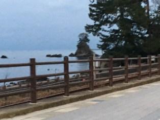 義経岩付近の景色