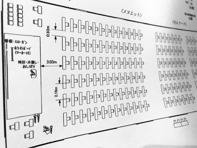 withコロナ時代の講演会場の配置図