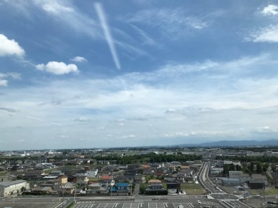 講演会場から関東平野を望む写真