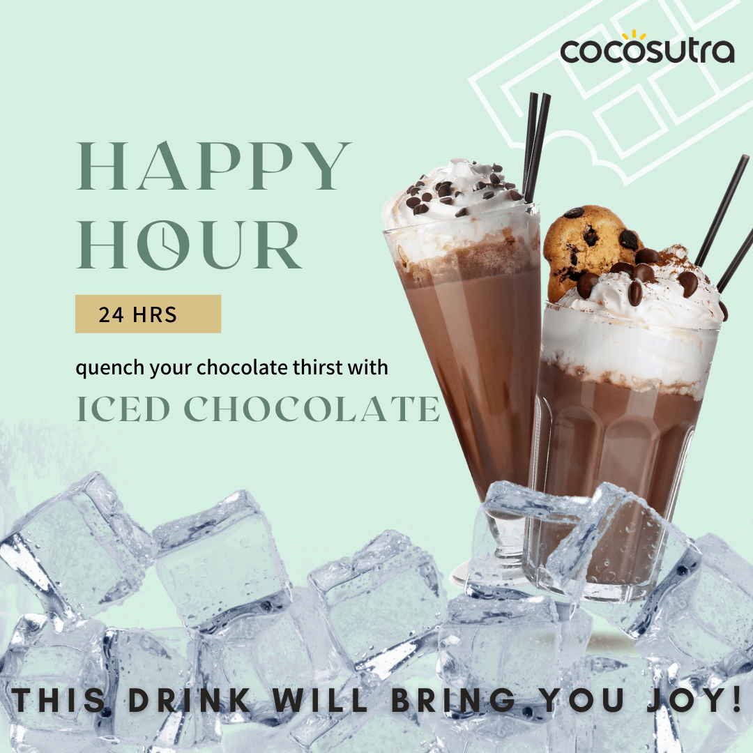 Iced Drinking Chocolate - Cocosutra Hot Chocolate Mix