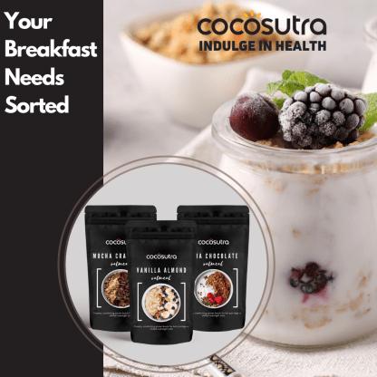 Cocosutra Oatmeal - Healthy Breakfast - Protein & Fibre Rich - Vegan
