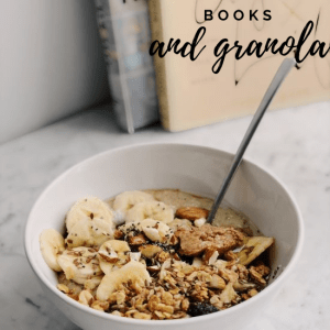 Breakfast Granola Cereal and Books