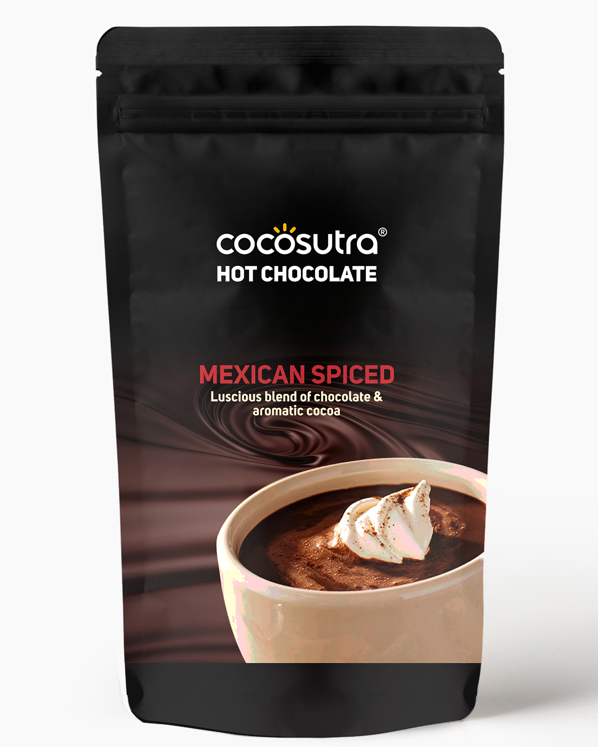 Cocosutra Mexican Spiced Hot Chocolate Mix 500g - Front - Best for Hampers & Gifts