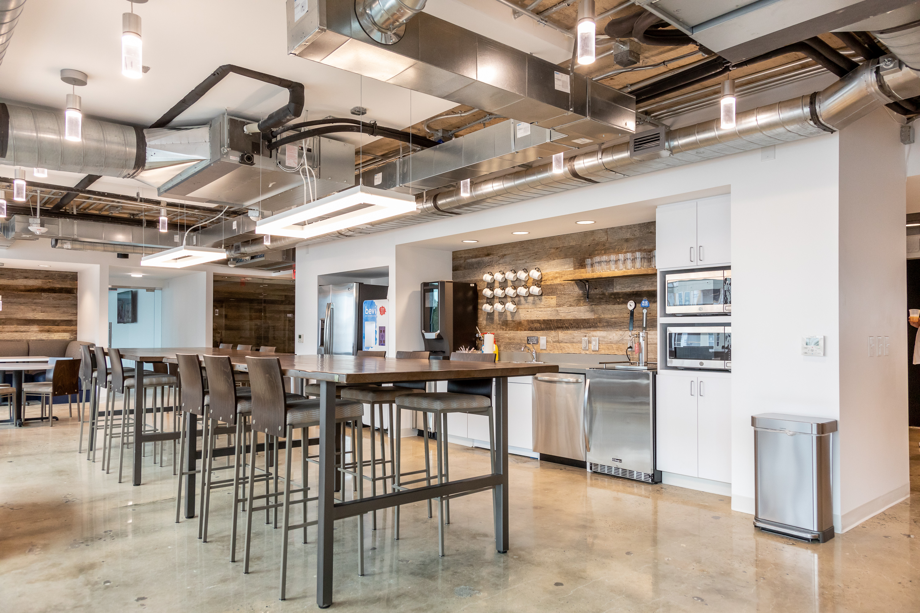 coworking space with tables
