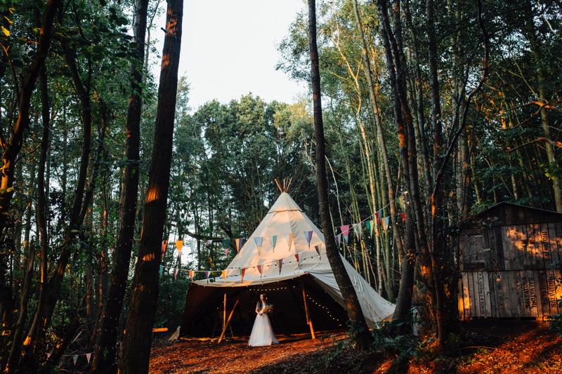 Into the Woods with Wilderness Weddings Kent  UK Wedding