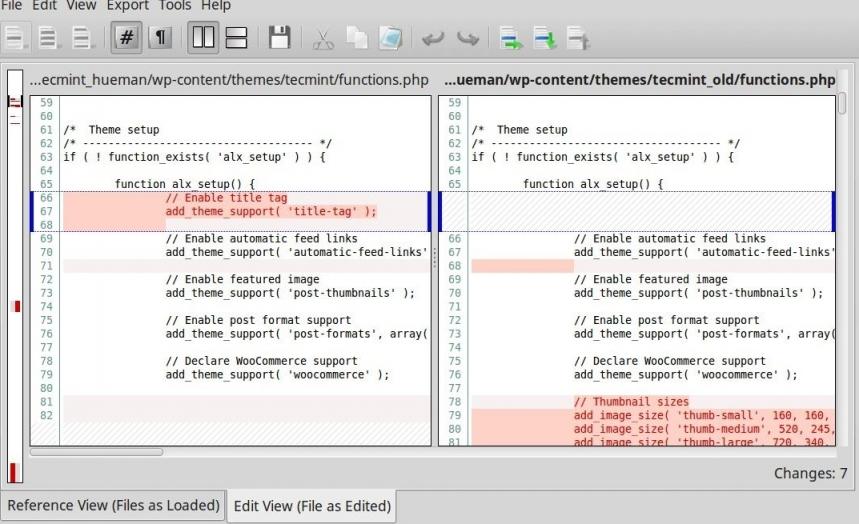 Linux下9種優秀的代碼比對工具推薦小結 | 開源互助社區
