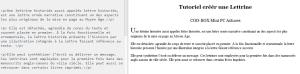 Créer une lettrine que en debut de block de text CSS ou Calibre