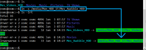 Ajouter Audible audio sur HDD externe autant que source OSMC