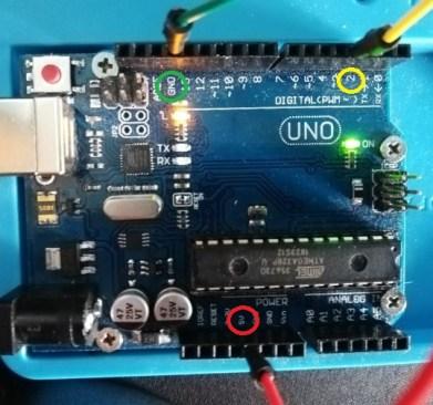câblage du DHT 11 sur Arduino UNO