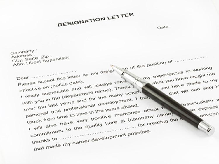 Sample Resignation Letter Monster Com