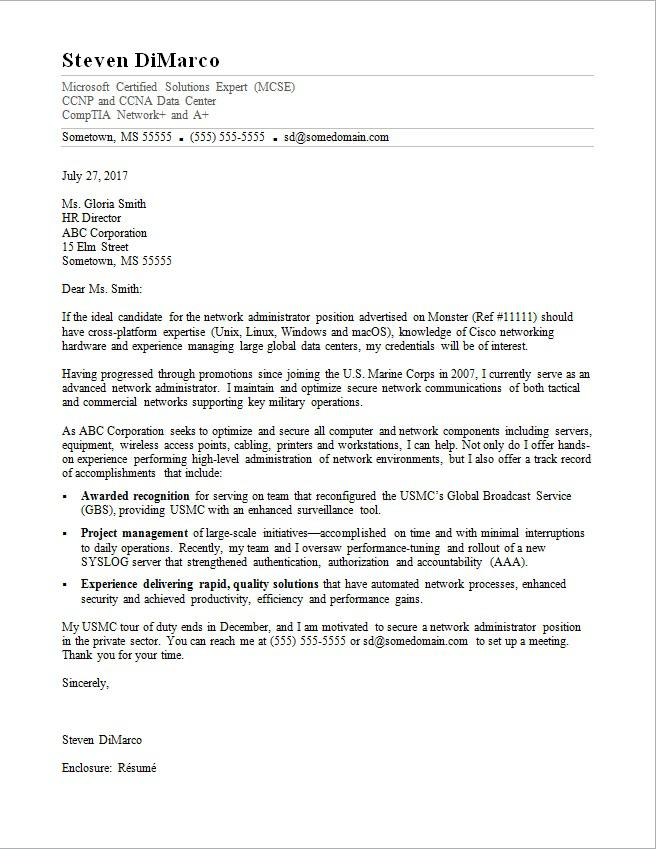 Cover Letter Army To Civilian Resume Examples