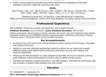 Comprehensive Resume Format   Electrician Resume Format ...