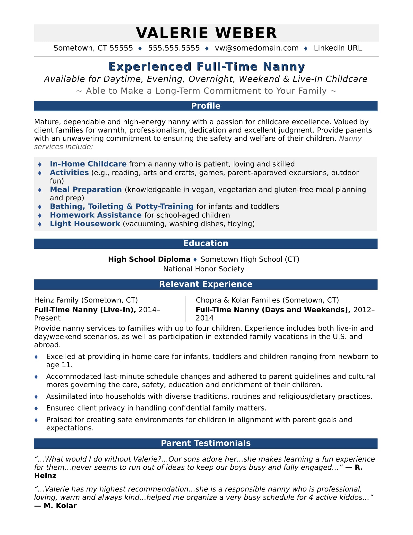 resume career objective cleaner