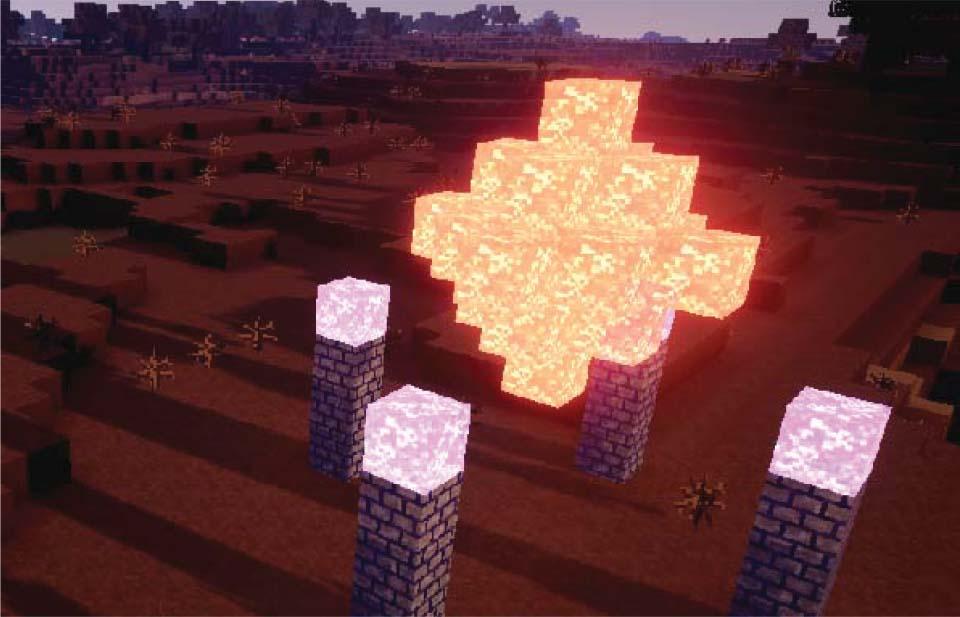 Minecraft programming.