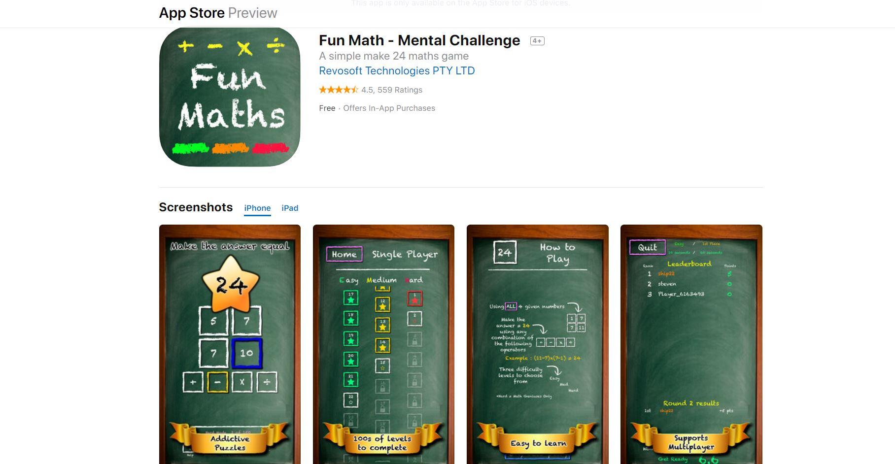 Fun Math - Mental Challenge CodaKid Top Math Games