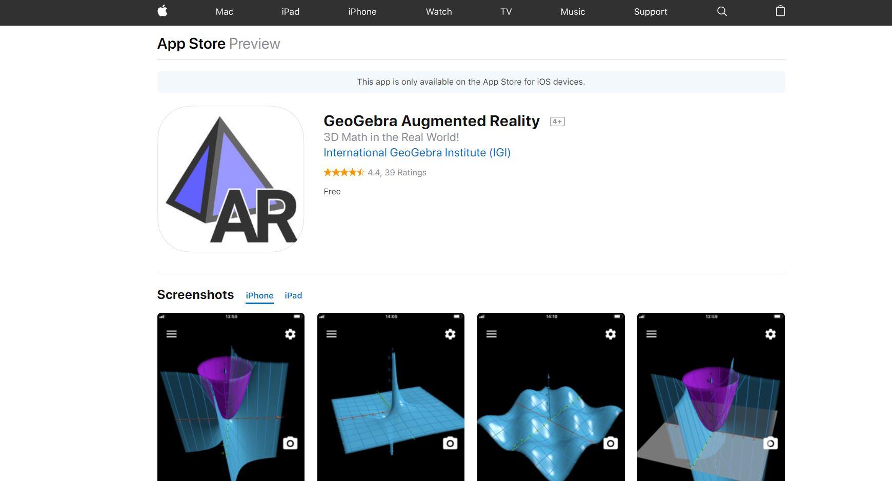 GeoGebra Augmented Reality CodaKid Top 21 Math Apps of 2019