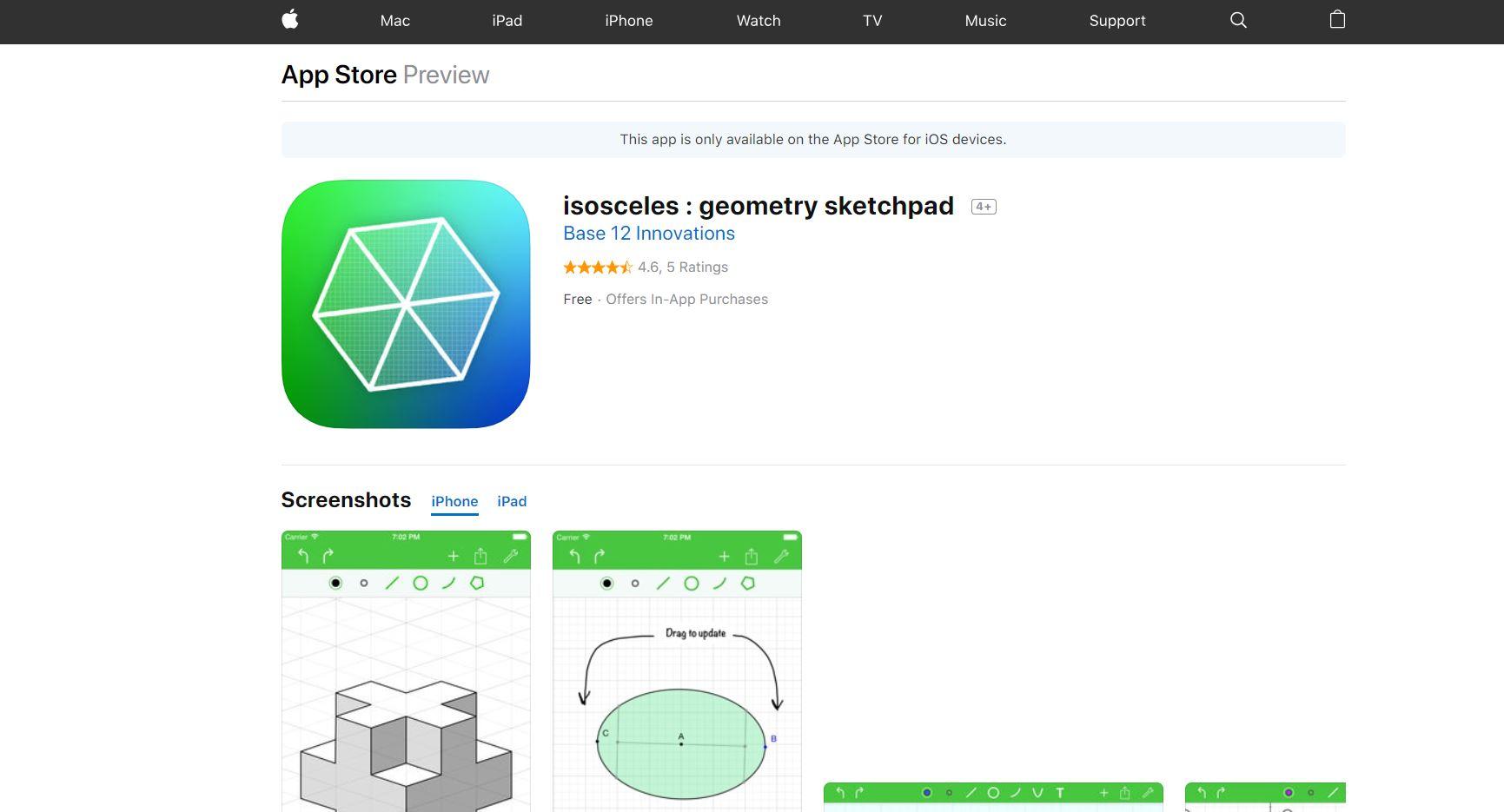 Isosceles Geometry Sketchpad Codakid Top 21 Math Apps of 2019